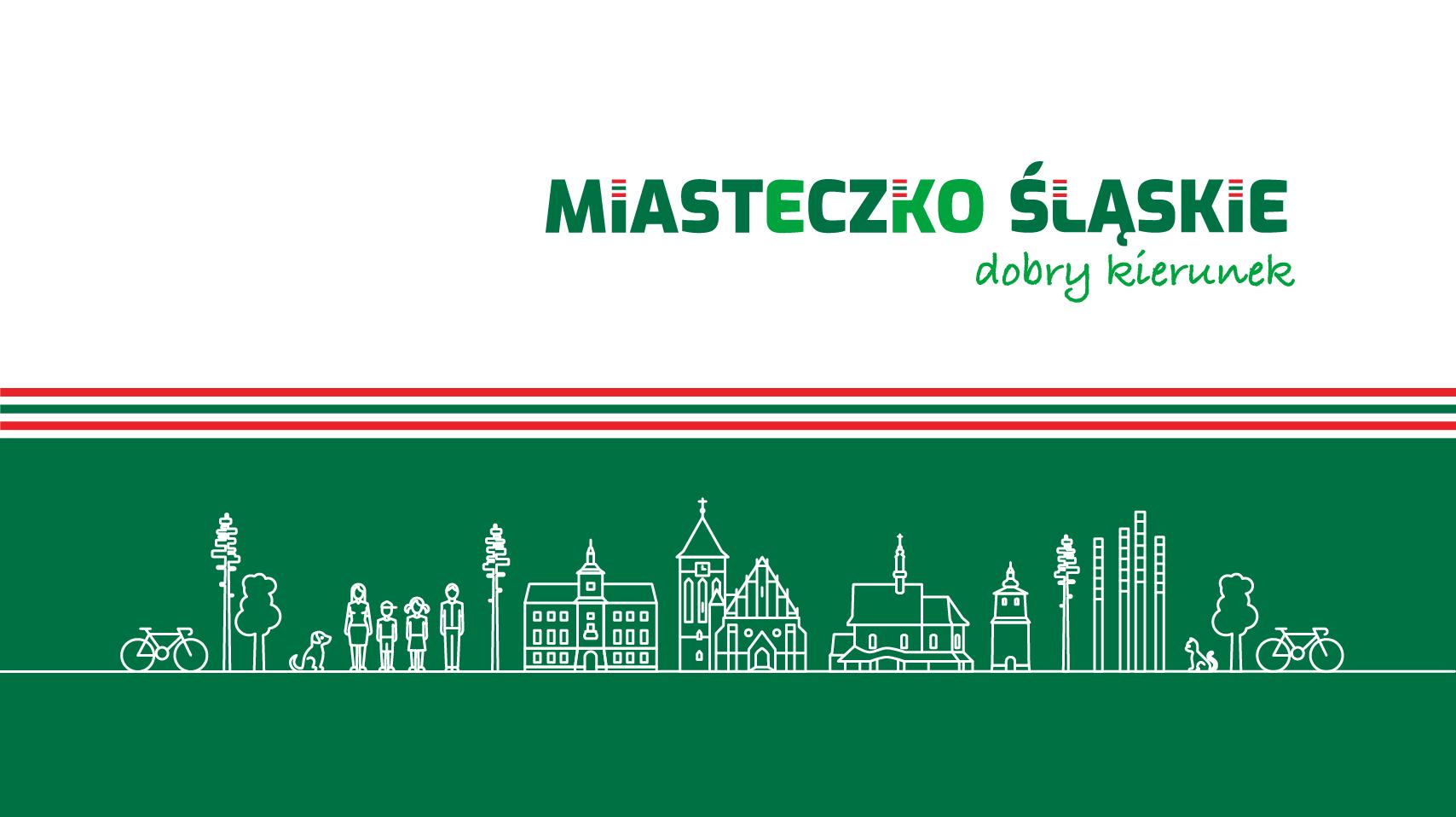 Urząd Miejski oraz Centrum Sportu i Rekreacji w Miasteczku Śląskim