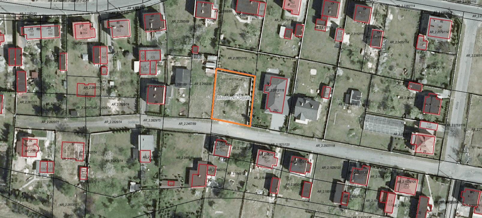 Ogłoszenie o pierwszym przetargu ustnym nieograniczonym na sprzedaż nieruchomości położonej w Miasteczku Śląskim w rejonie ul. Górniczej