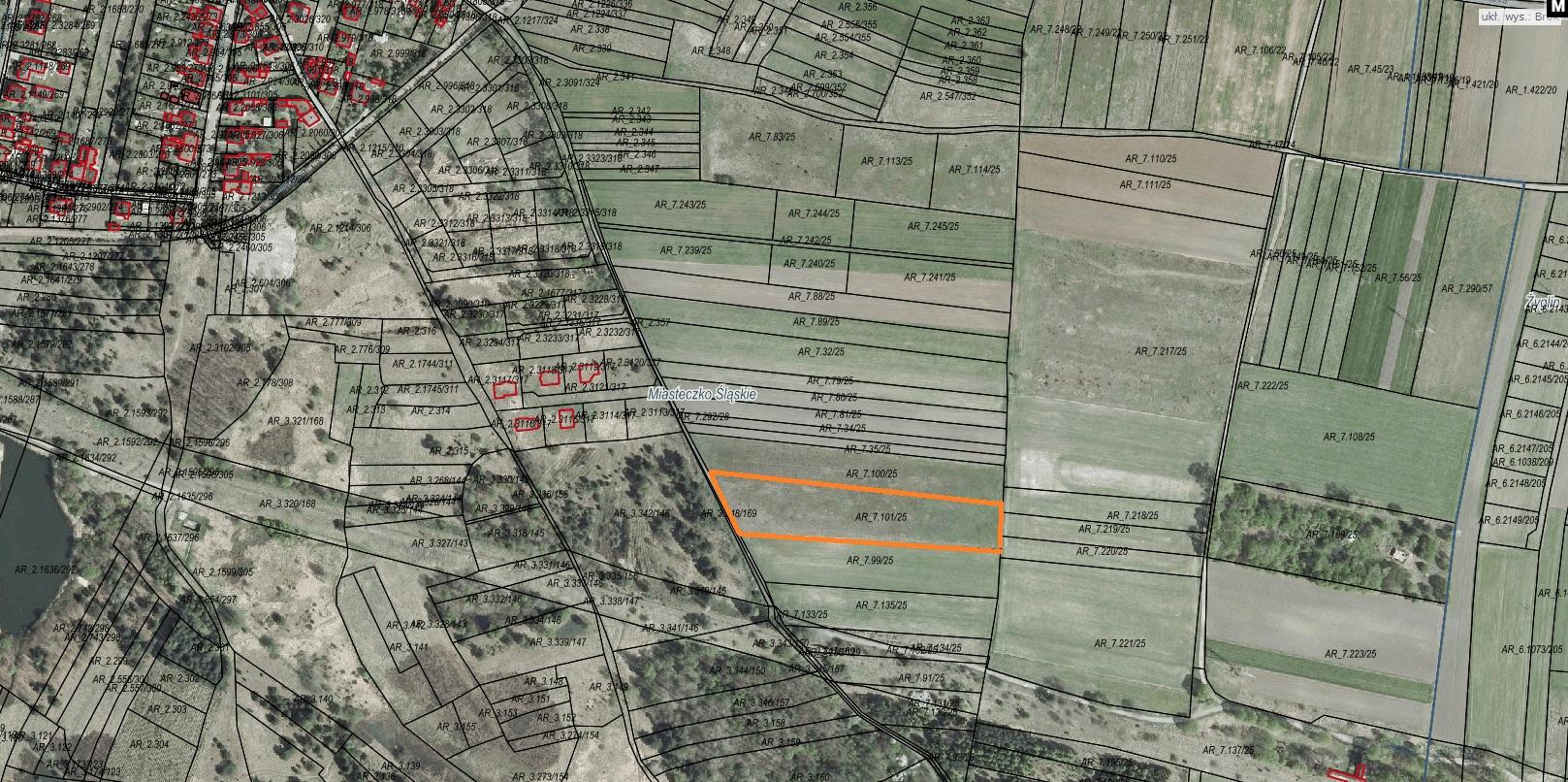 Ogłoszenie Burmistrza Miasta Miasteczko Śląskie o pierwszym przetargu ustnym nieograniczonym na sprzedaż nieruchomości niezabudowanej