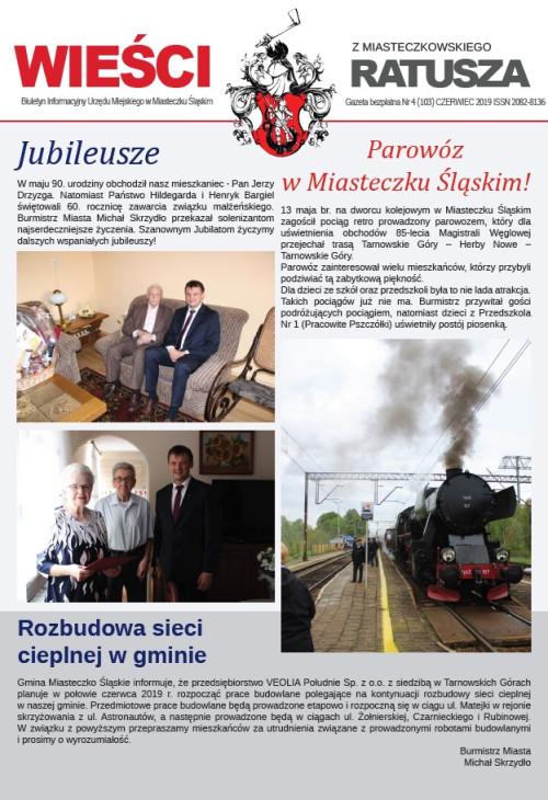 okładka wydania Nr 4 (103) Czerwiec 2019 gazety Wieści z Ratusza