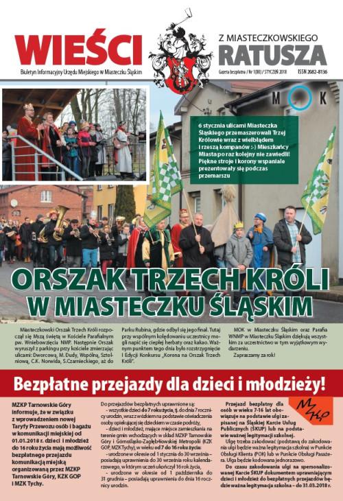 okładka wydania Nr 1 (88) Styczeń 2018 gazety Wieści z Ratusza