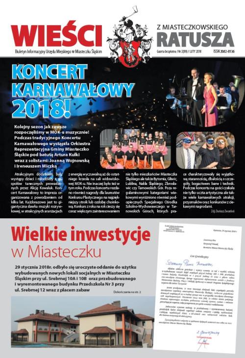 okładka wydania Nr 2 (89) Luty 2018 gazety Wieści z Ratusza