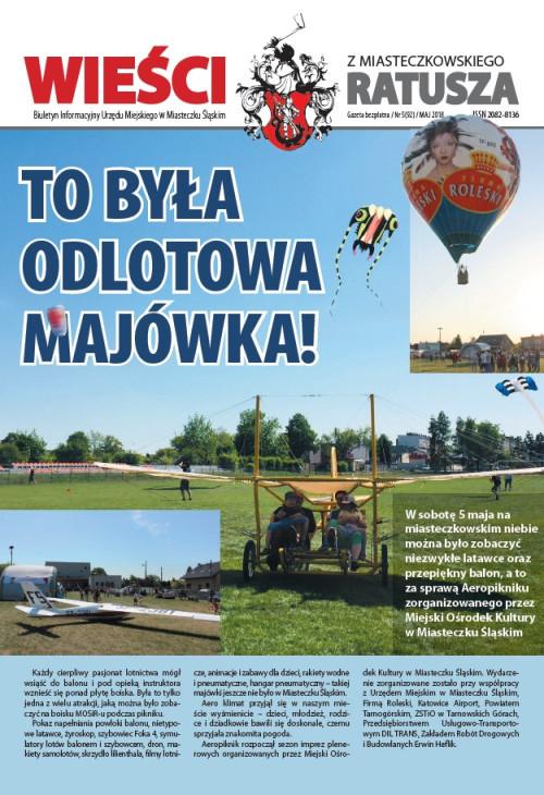 okładka wydania Nr 5 (92) Maj 2018 gazety Wieści z Ratusza