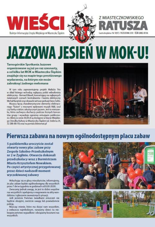 okładka wydania Nr 10 (97) Październik 2018 gazety Wieści z Ratusza