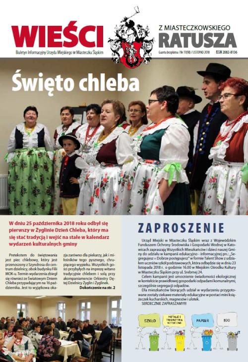 okładka wydania Nr 11 (98) Listopad 2018 gazety Wieści z Ratusza