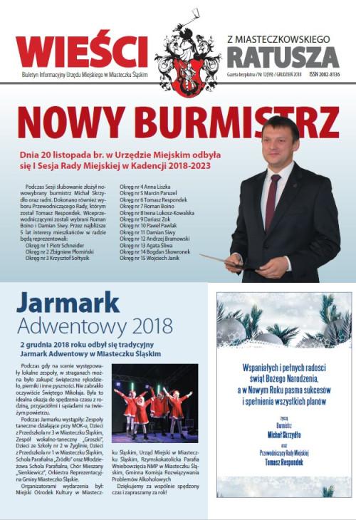 okładka wydania Nr 12 (99) Grudzień 2018 gazety Wieści z Ratusza