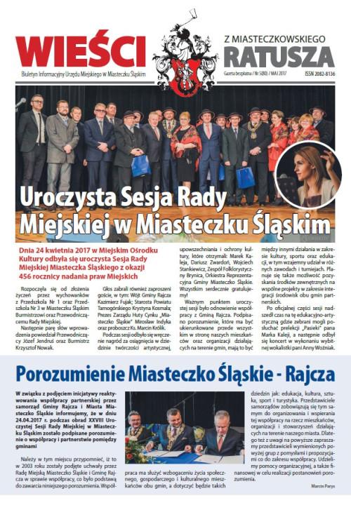 okładka wydania Nr 5 (80) Maj 2017 gazety Wieści z Ratusza