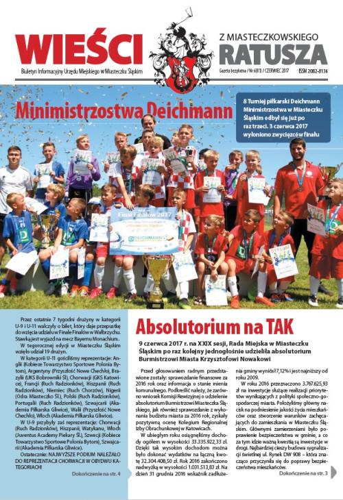 okładka wydania Nr 6 (81) Czerwiec 2017 gazety Wieści z Ratusza